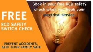 Free RCD check with Electrical work