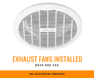 Electrician installed exhaust fans Perth's northern suburbs