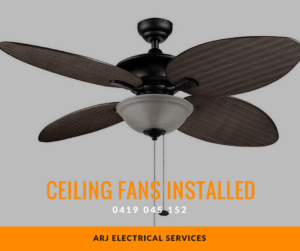 Ceiling fans installed or replaced by an experienced electrician