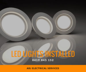 Electrician installed led lighting Joondalup