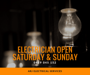 Electrician open Saturday & Sunday Joondalup