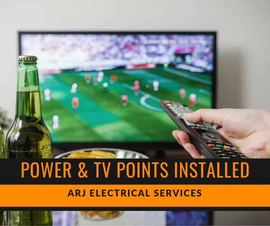 tv points installed by electrician perth